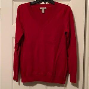 Banana Republic Red V- Neck Sweater